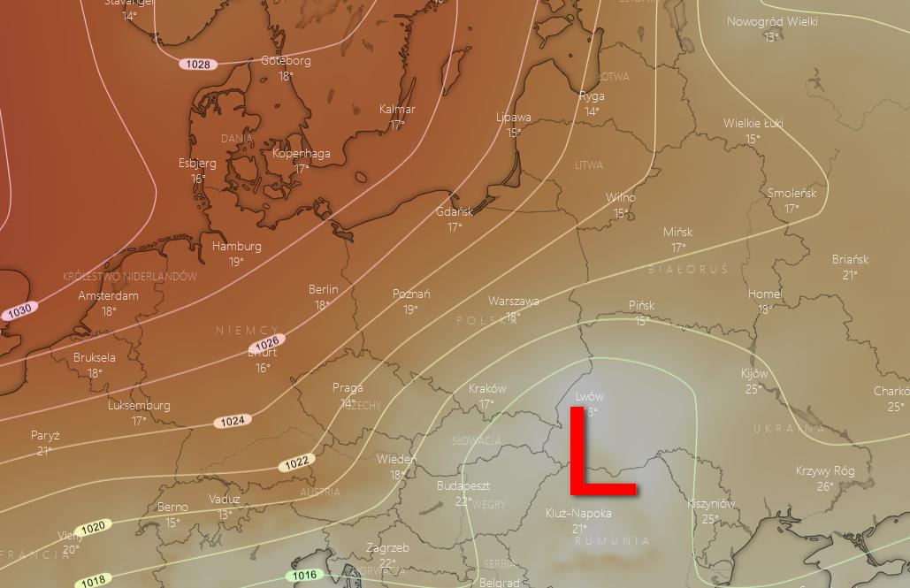 Pogoda. Spodziewane ciśnienie atmosferyczne na wtorek