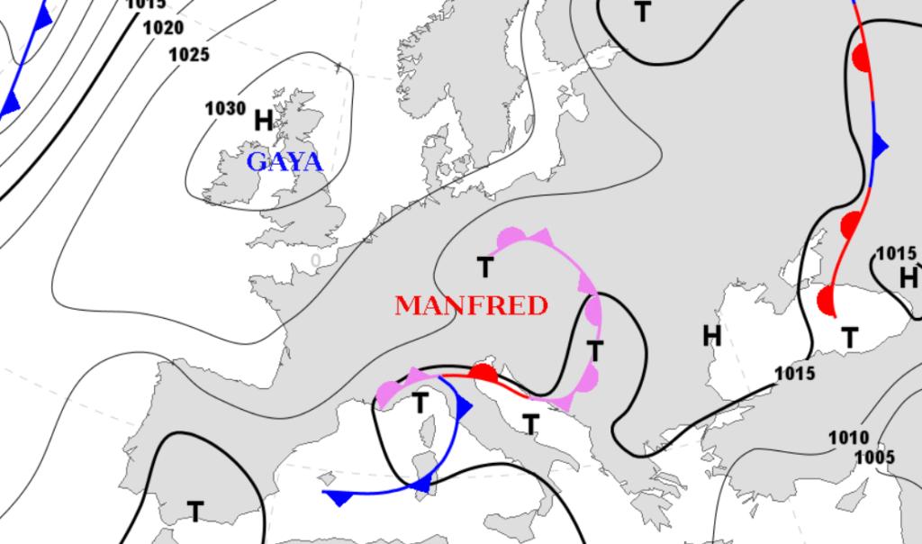 Pogoda. Sytuacja synoptyczna nad Europą w poniedziałek.