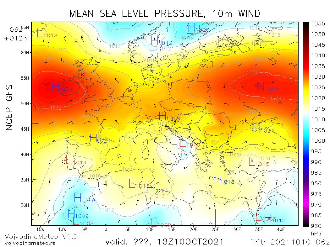 Pogoda. Aktualna sytuacja synoptyczna nad Europą (niedziela). Europa zdominowana przez systemy wysokiego ciśnienia