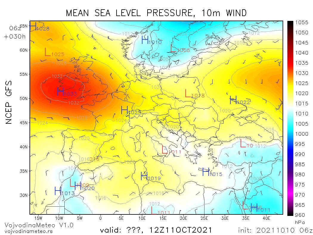 Pogoda. Spodziewana sytuacja synoptyczna nad Europą w poniedziałek - rozbudowa pola niskiego ciśnienia nad Skandynawią
